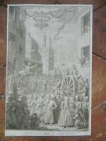 Incisione Il Bairam O La Pasqua Di Mahometans Dopo Jacob Folkema