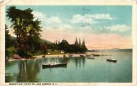 Vintage Postcard - 1922 Sabbath Day Point On Lake George New York NY #4262