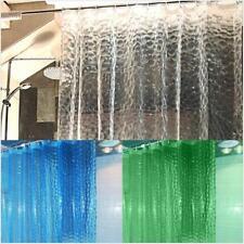 Transparent 3D Water Cube Design Shower Curtain Bathroom Waterproof PEVA YG