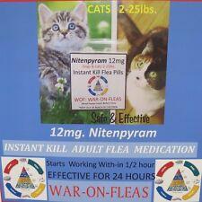 Flea Pills Capsules Cats 2lbs.-25lbs. (30) pack