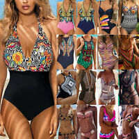 Women Boho One Piece Monokini Bikini Push Up Swimsuit Swimwear Bathing Beachwear