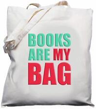 Books Are My Bag - Natural (Cream) Cotton Shoulder Bag