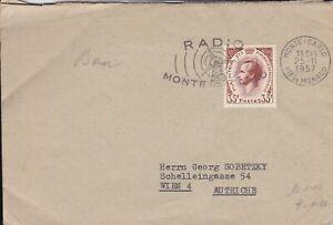MON37) MONACO 1957 PRINCE RAILIES III; RADIO MONTE CARLOS
