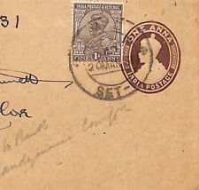 U198 1931 India RAILWAY Superb TPO CDS Cancel Cover Louth Lincs{samwells-covers}