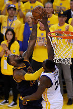 Draymond Green & LeBron James Unsigned 12x18 Golden State Warriors (2)