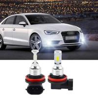 Pair H11 H8 LED Front Fog Light Bulb White 6000K High Power BY For Audi A3 8P
