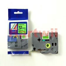 Brother TZ-D31 P-Touch Compatible Black on Fluo Green Label Tape 12mm TZe-D31