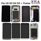 OEM LG G5 G4 G3 G2 LCD Display Touch Screen Digitizer + Frame Replacement Black