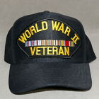 Men's Hat Baseball Style WWII VET OFFICIAL MILITARY HEAD GEAR USA Navy Blue