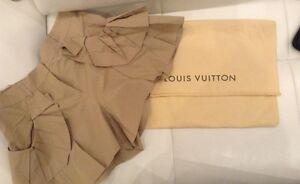 LOUIS VUITTON Beige Cotton Frill Detail Safari Shorts