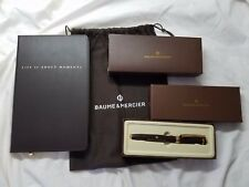BAUME & MERCIER Watches Limited Edition Pen & Leather Bound Journal w/Duster Bag