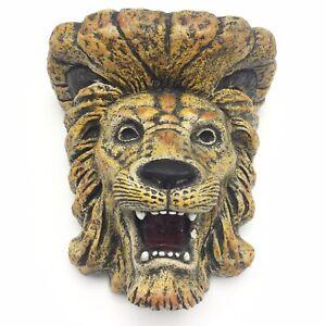 Vintage Plaster Ceramic White Lion Head Wall Bracket Sconce Shelf Corbel Gothic