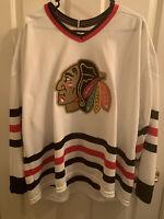 Vintage Chicago Blackhawks CCM NHL Hockey Jersey Mens Size XL Embroidered