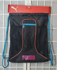 NWT PUMA DASH CARRYSACK WOMEN'S BLACK/PINK BAGSCHOOL WORK TRAVEL SPORT BACKPACK