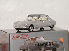 Miniabox DS 19 Grise dinky car designed By Minialuxe France 1/66è Ref MB100_1SE