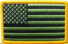 United States Flag BLACK & GREEN COLOR Military Tactical Iron-On Patch