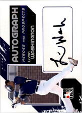 2011 ITG Heroes and Prospects Full Body Auto Silver #LW LeVon Washington- NM-MT