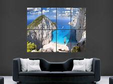 Paradise cove poster beach sea tropical art mural grande image giant