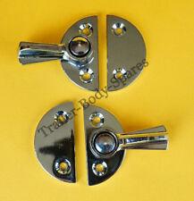 FREE UK Post - 2 x  Chrome Gravelly Fastener Swivel Catch Lock & Base Plate