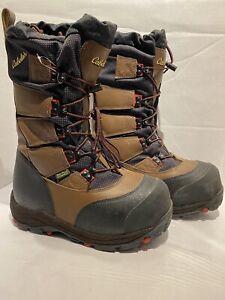 "Cabela's 15"" Saskatchewan PAC Goretex Insulated Boots Camo Leather Sz 9"