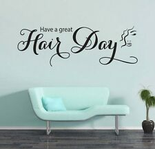 Have A Great Hair Day Hairdresser Wall Art Quote Vinyl Decal Sticker Wall Mural