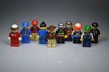 LEGO® Figuren, 10 Minifiguren, Männchen, gemischt mit Kopfbedeckung, Konvolut
