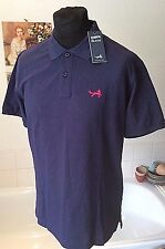 BNWT Asquith & Fox ~ cotton navy blue  summer polo shirt s/sleeve to fit 38-40""