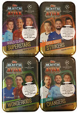 Topps Match Attax Champions League 2019/2020 alle 4 Tin inkl.Limited Edition