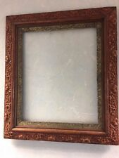 "Antique Ornate Raised Floral Detailed Picture Frame 20""x23""Gilded Inner Frame"
