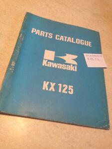 Kawasaki Piezas List KX125 125 KX Lista Piezas Repuesto éd.73