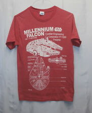 Star Wars Millennium Falcon Graphic T-Shirt; Size Small