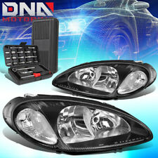 FOR 2001-2005 CHRYSLER PT CRUISER OE STYLE BLACK CLEAR SIGNAL HEADLIGHTS+TOOLS