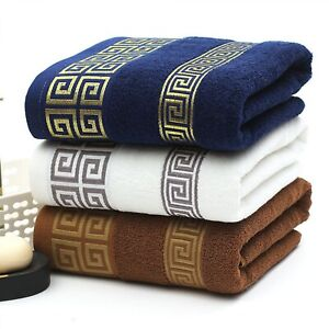 Cottons Embroidered Towel Bamboo Plain Beach Bath Towels For Adults New