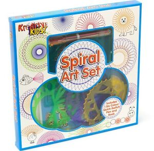 SPIRAL ART CRAFT SET   Children's Stencil Art Kit   Kids Spiral Drawing Set Pen