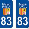 stickers autocollants plaques immatriculation auto Département Var 83