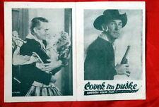 MAN BEHIND GUN RANDOLPH SCOTT 1953 EXYU MOVIE PROGRAM