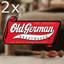 "2x pieces Old german kraftwagen sticker decal aircooled beetle bus golf 4.75"""