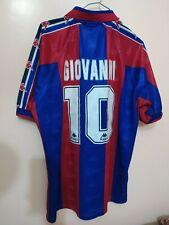 "VINTAGE ""KAPPA"" T-SHIRT GIOVANNI ! #10 FC BARCELONA~ VTG /M ORIGINAL (SIGNED)"