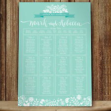 Personalised Wedding Seating Plan • Planner • Table Plans • 2 Hearts