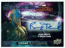 Avengers Endgame & Captain Marvel 2020 Autograph BA-RA Rune Temte as Bron-Char