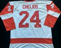 Chris Chelios Signed Autograph White Jersey JSA COA Detroit Red Wings Legend