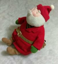 Hallmark Soft Stuffed Plush Santa Claus Plaid Shirt Santas Letter Pocket Keeper
