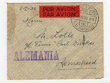 CHILE 1930 Airmail Valparaiso to Germany Presidents overp. nice small cover