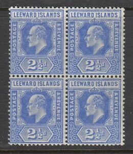 Leeward Islands, Sc 45 (SG 40), MNH block of four