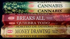 Party Cannabis Breaks All Money Drawing 60 Hem Incense Sticks 3 Scent Gift Set