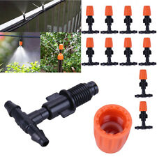 10X Sprühdüse Nebeldüse Sprinkler Tropfer + T-Stück Verbinder Bewässerungsystem
