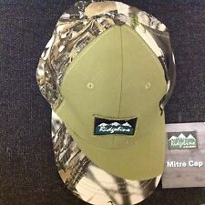 RIDGELINE Camo Baseball Cap -- 100% Cotton - Stalking, Fishing, Hunting- reduced