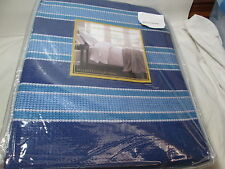 New Bellante Collection Egyptian Cotton Twin Blanket ~ Navy, Blue & White Stripe