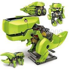DIY 4 IN 1 Educational Learning Electronic Power Dragon Solar Robot Kit Kids Toy