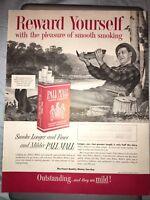 10x13 1954 Vintage Pall Mall Cigarettes Fishing Tobacco Magazine Print Ad
